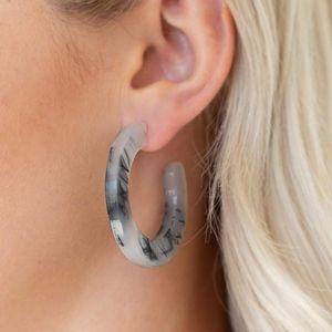 Free with Bundle Oceanside Black Hoop Earrings